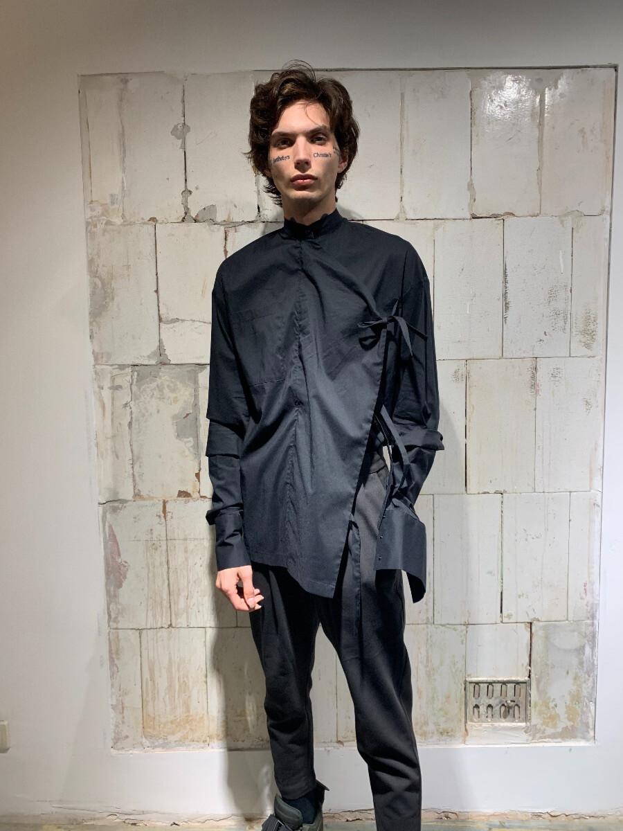 Мужская рубашка с двойным рукавом