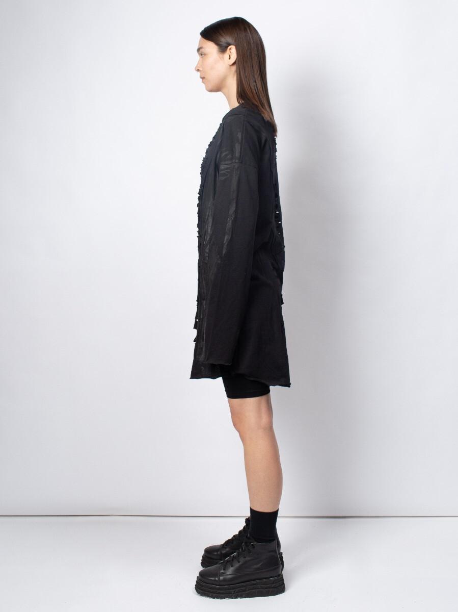Лонгслив-платье - Чёрный клевер