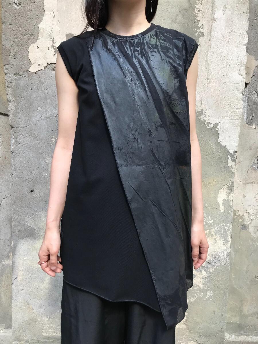 Платье-майка - С чёрным принтом