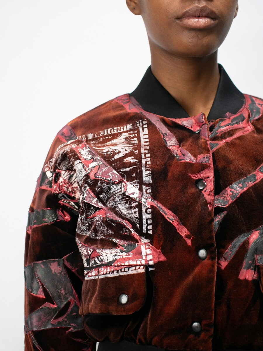 Куртка - Бомбер «красная графика»