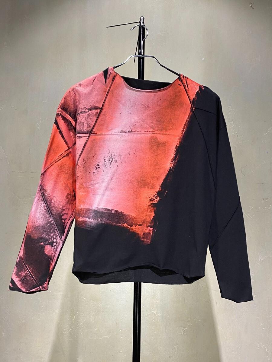 Лонгслив - Красно-розовый рассвет