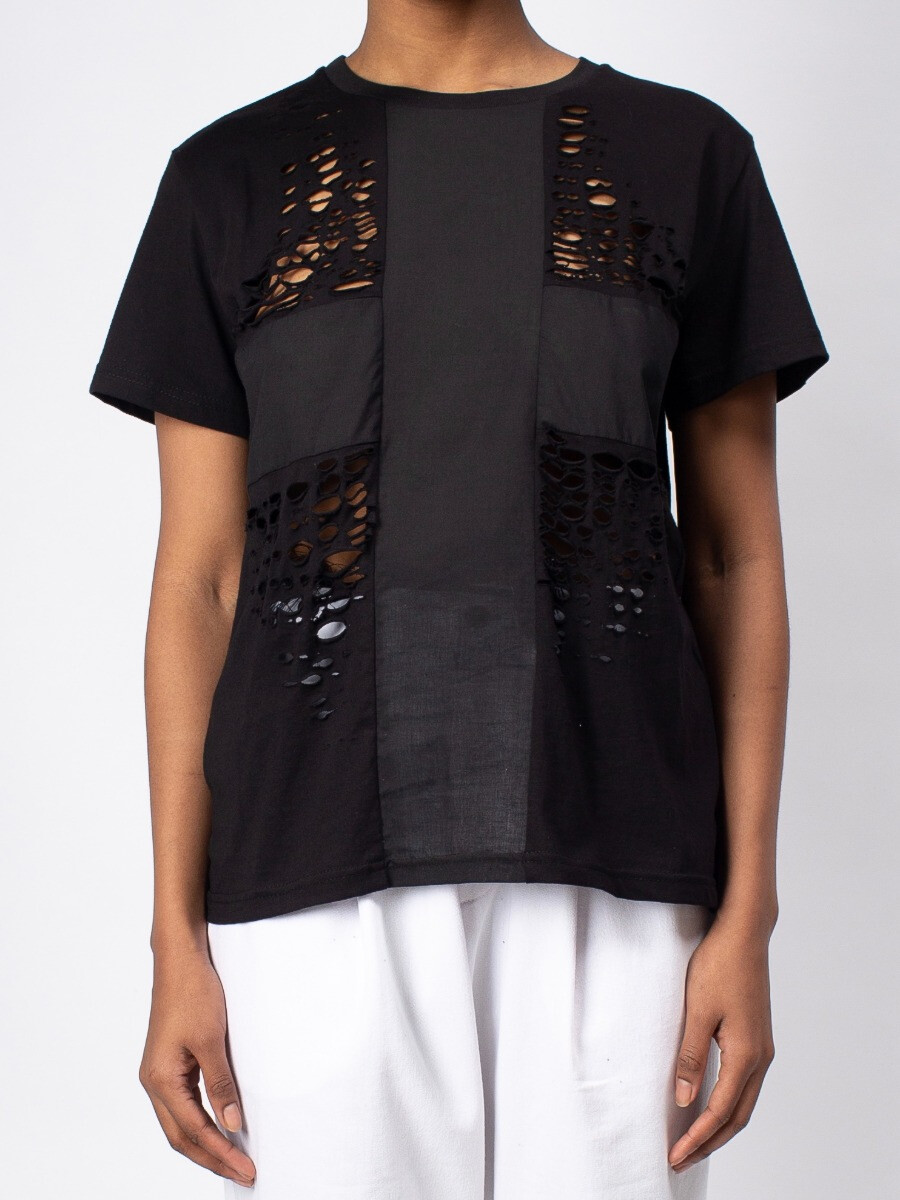 Женская футболка -  Чёрный крест