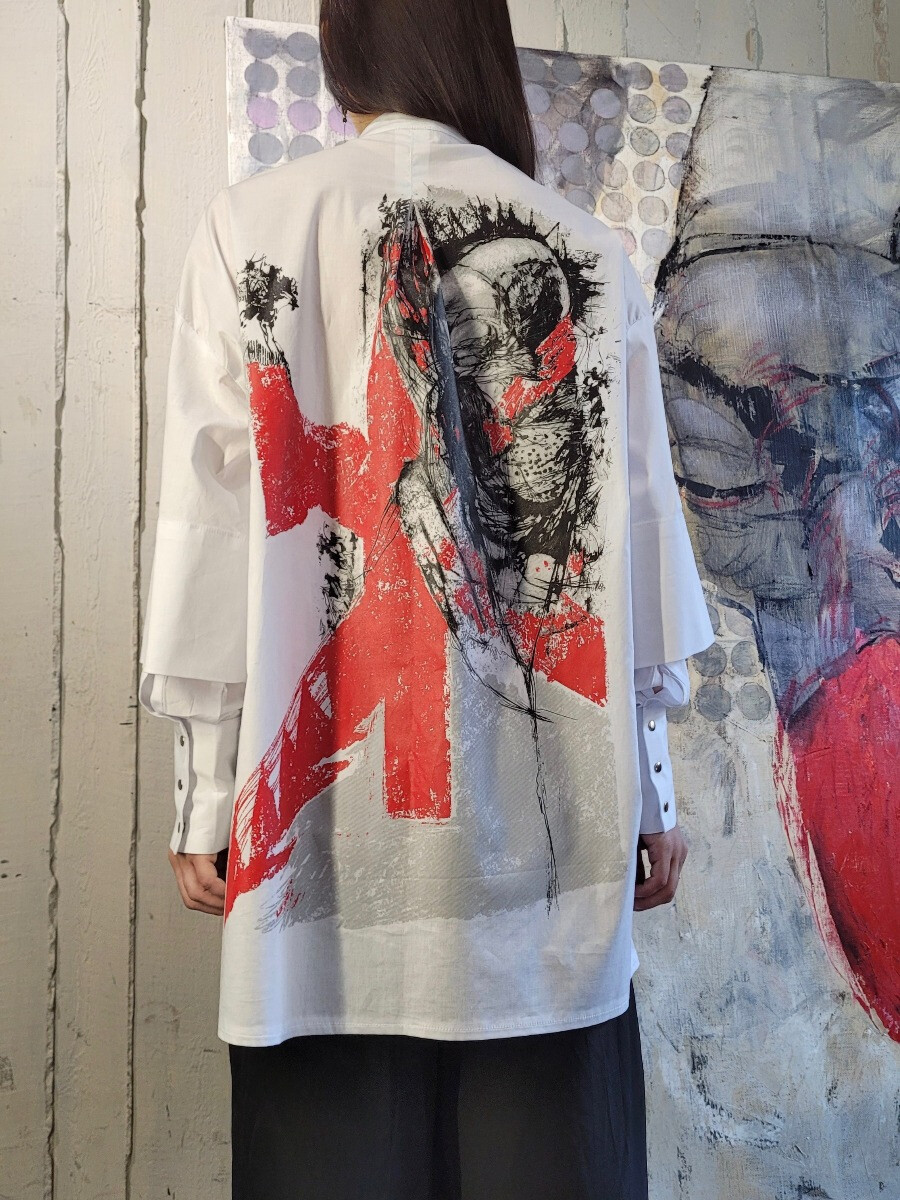 Рубашка с двойным рукавом - Хэдпринт