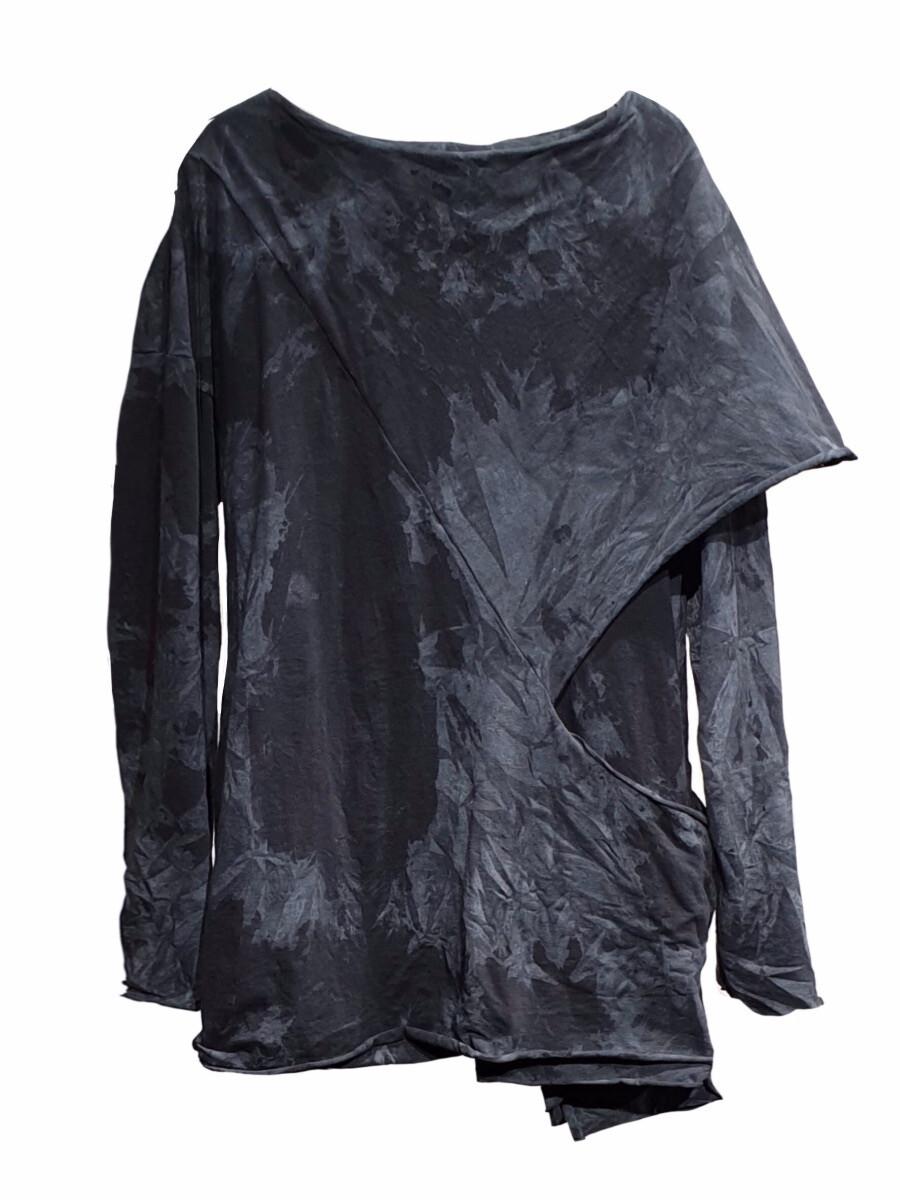 Мужской лонгслив - Серый дождь
