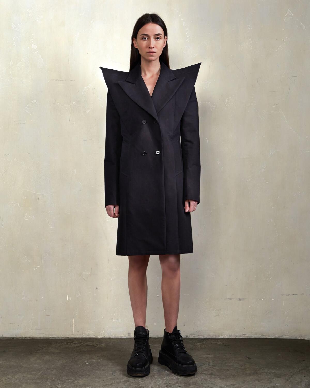 Пальто - Острое плечо