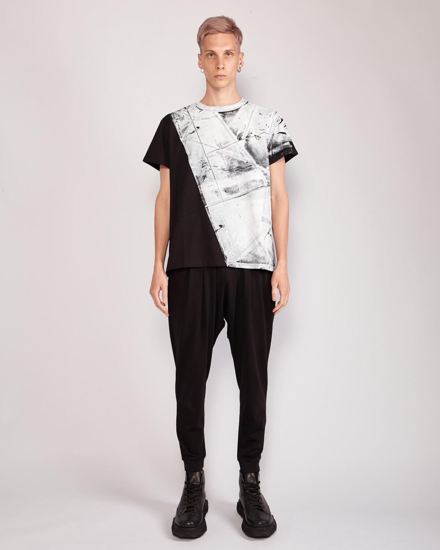 Мужская футболка - Белый принт